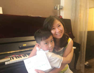 Winton started to learn piano with me in summer 2015
